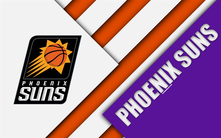American Sports Material Wallpapers: Download Wallpapers Phoenix Suns, 4k, Logo, Material