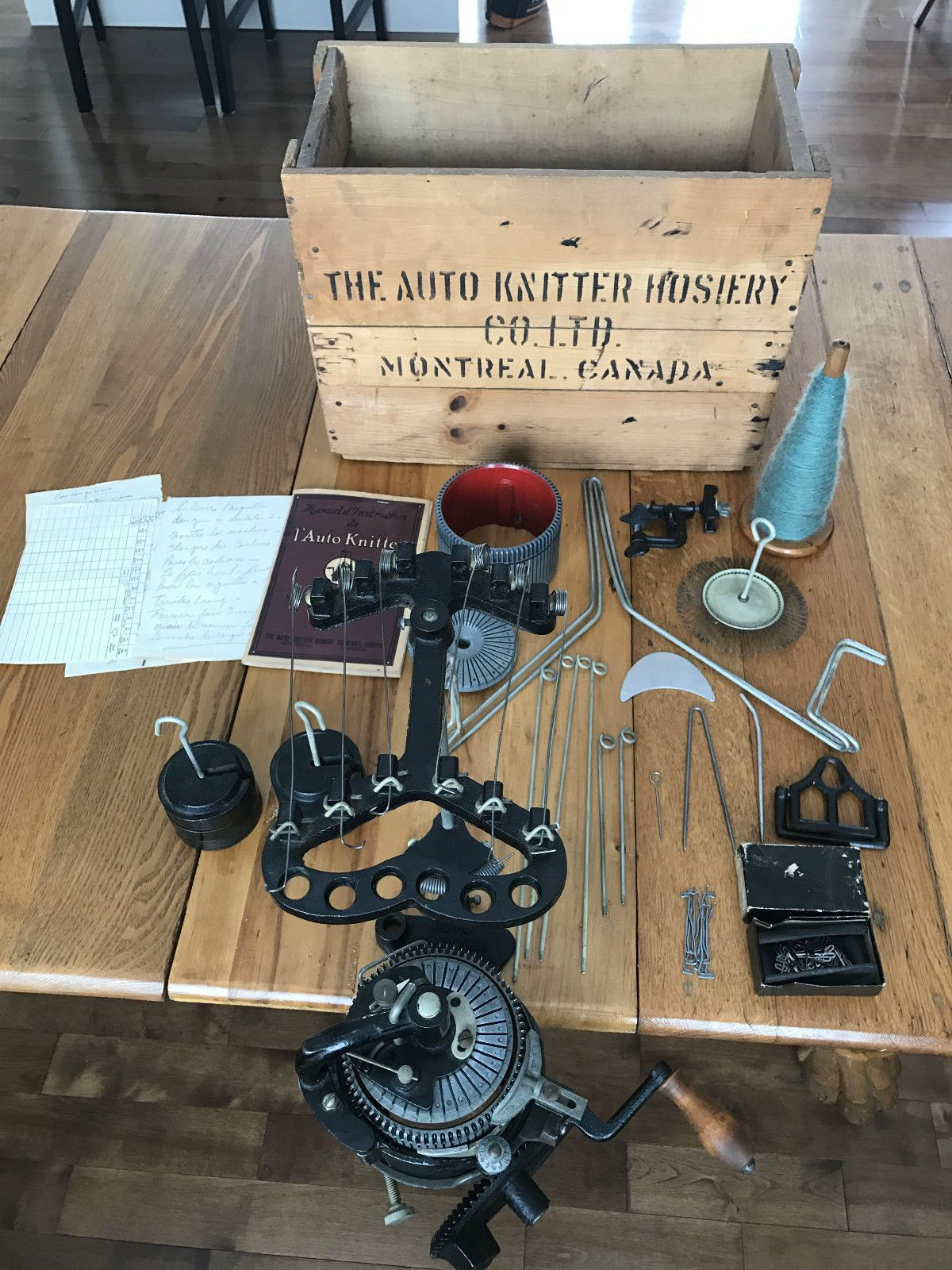 Details About Vintage Auto Knitter 72 80 And 36 40 Original Box Book