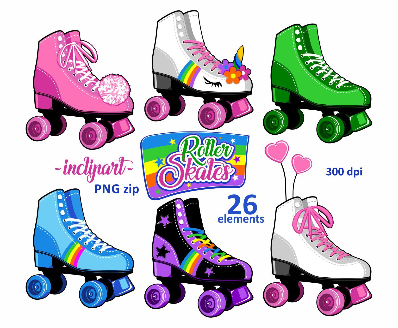 excited to share the latest addition to my etsy shop roller skates clipart  [ 1656 x 1367 Pixel ]