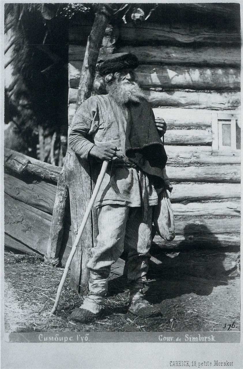 The farmer. Simbirsk province, 1870. Photographs of William Carrick