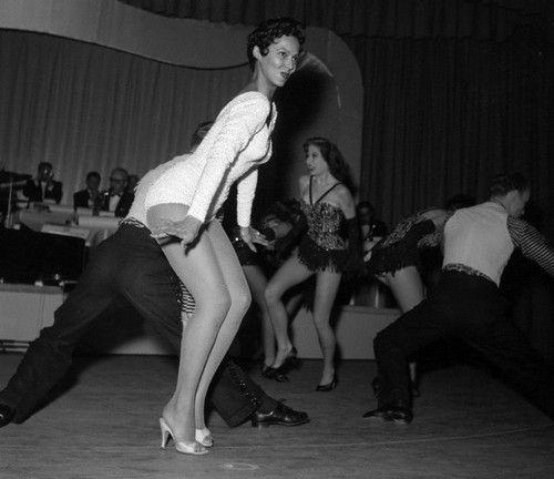 "Dorothy Dandridge dancing and singing ""Oh-Ah-Oh"" during her opening night performance at The Riviera in Las Vegas in November 1955. Photo: Bettman/Corbis."