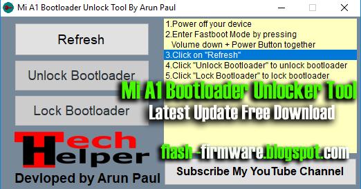 DownloadMi A1 Bootloader Unlocker Tool Feature: Refresh