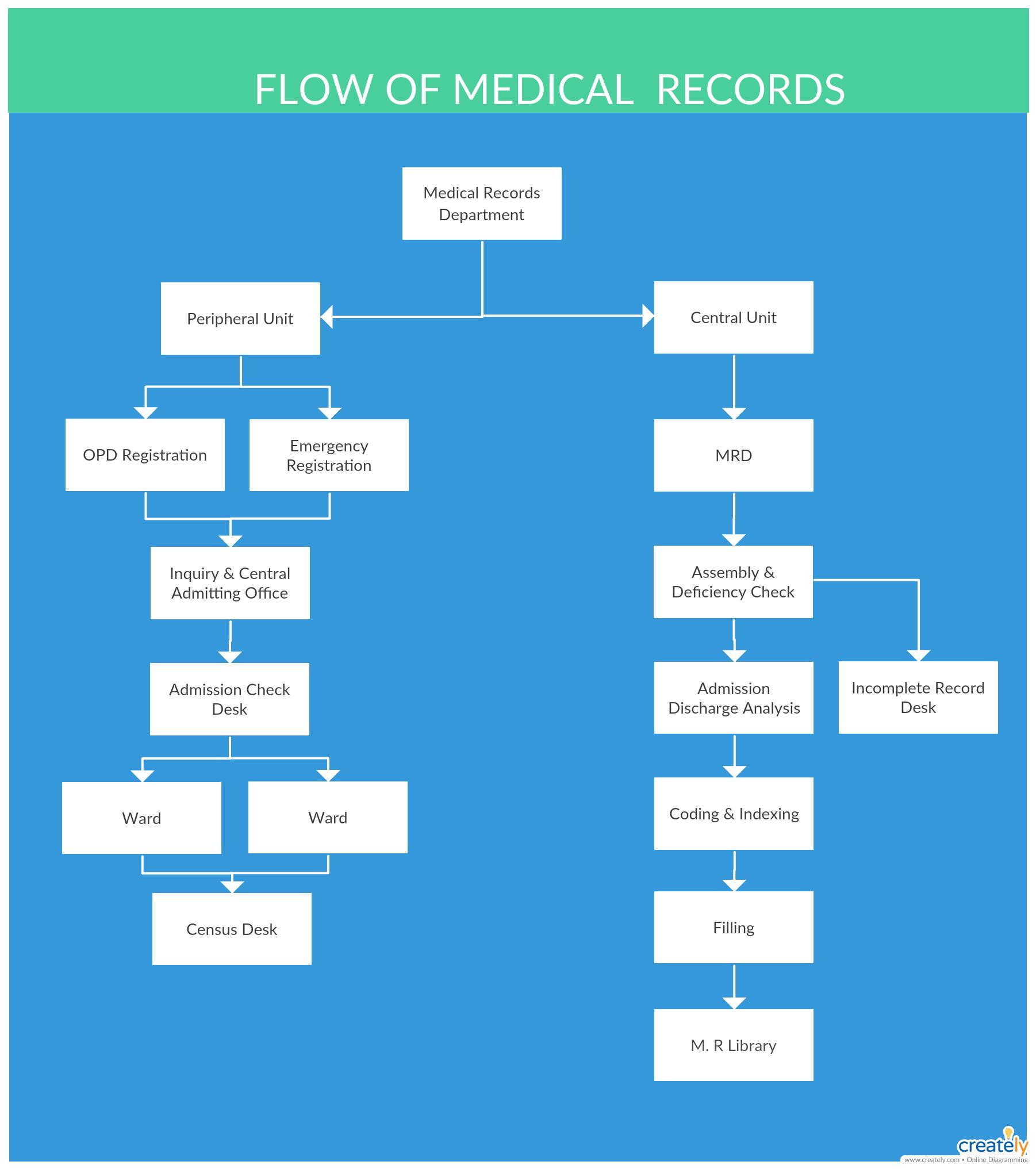 Flow Of Medical Records Medical Flowcharts Medical Records Flow Chart Medical