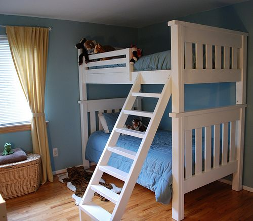 Nick can make a full bottom bunk close to the ground...a great way to get what we need for less!