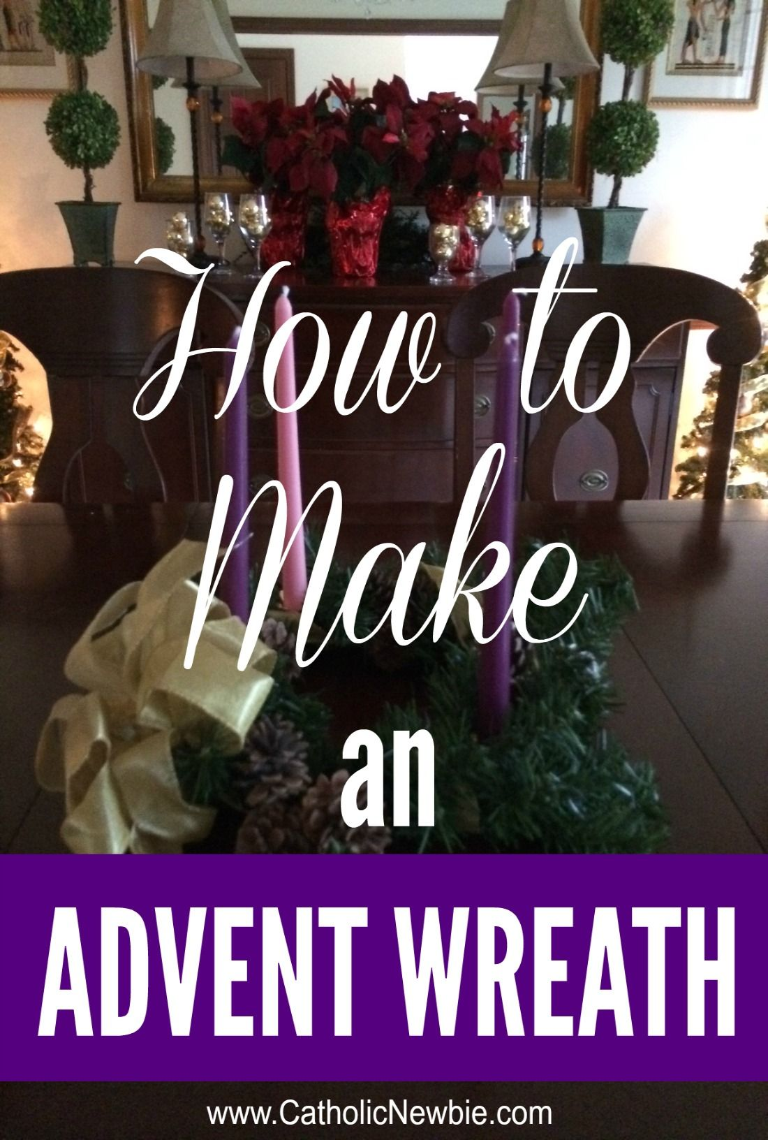 How to Make an Advent Wreath in 4 Steps Advent wreath