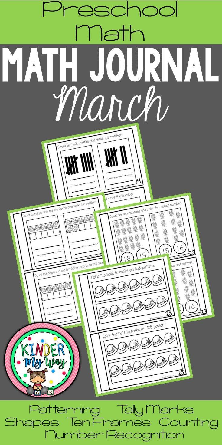 Preschool Math Journal March