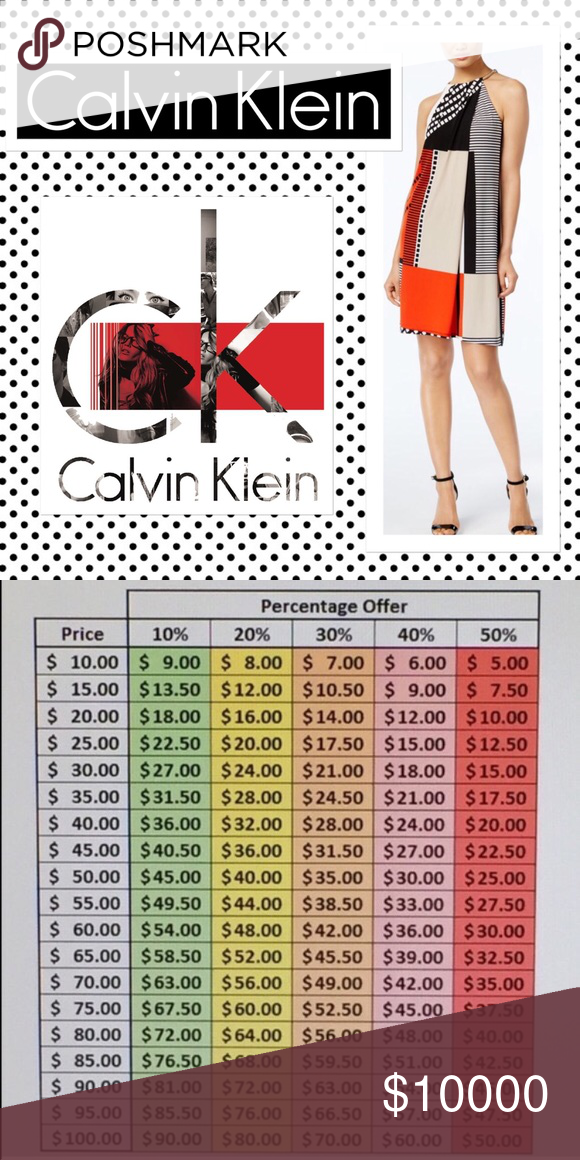 CALVIN KLEIN DRESSES Many Different Styles Available • Feel Free To Ask Questions, Get Additional Photos Or Measurements • ALL REASONABLE OFFERS ACCEPTED-Please DO NOT Make Offers Of 40% Or More, It's Insulting • All Items Ship Same Day Before 3:30 PM • Calvin Klein Dresses