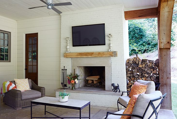 Fireplace Showcase- Covered Outdoor Fireplace Porches, Patios