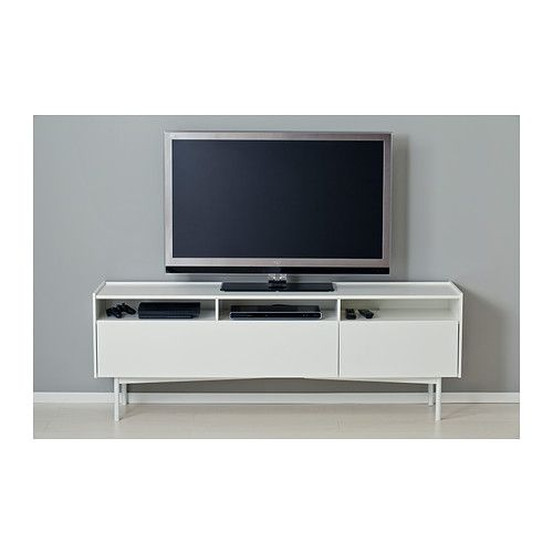 ramstra tv bench ikea cable outlets make it easy to lead cables out the back so theyre hidden from view but close at hand when you need t - Meuble Tv Ikea Lack Blanc