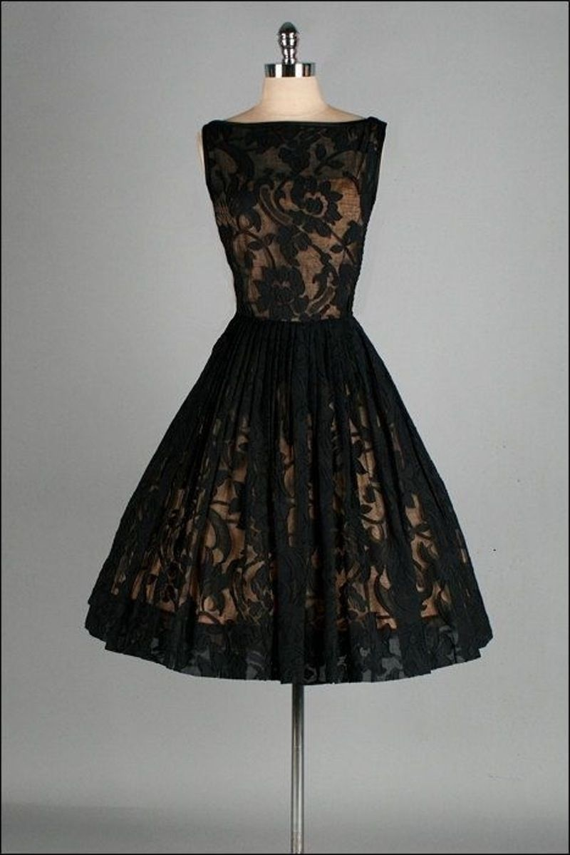 black lace stunning vintage dresses you are going to