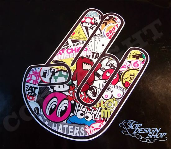Stickerbomb Shocker Hand Aufkleber Jdm Sticker Bomb Design