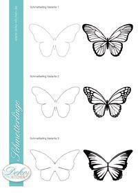 Lovely PDF Vorlage f r Schmetterlinge