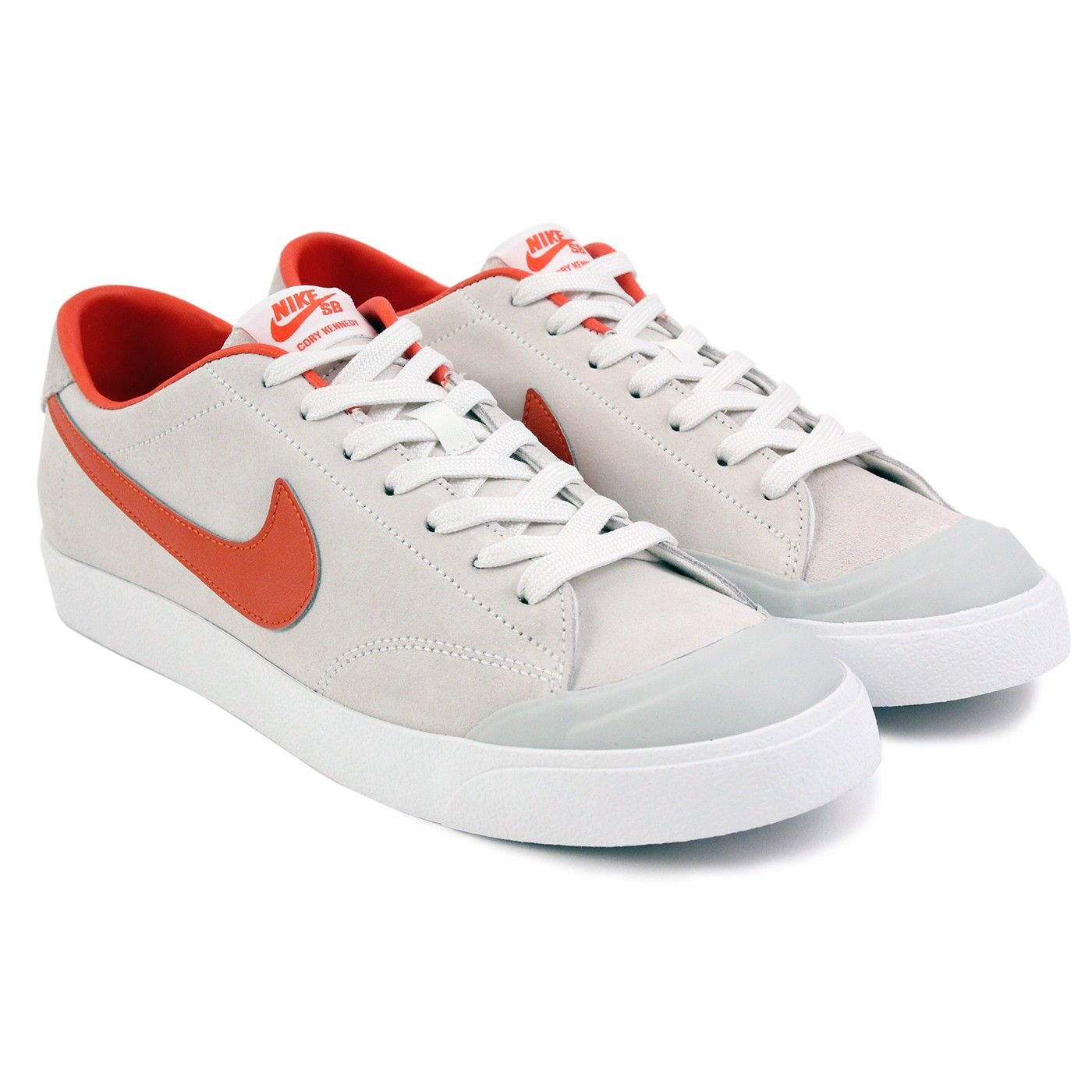 14b13ad39463 Zoom All Court CK Shoes in Ivory   Univ Orange Light-Bone by Nike SB x  Poler Stuff