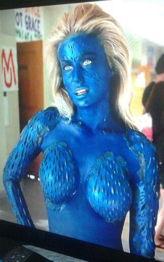 Carmen Electra as Mystique in Epic Movie.   Mystique: (X ...