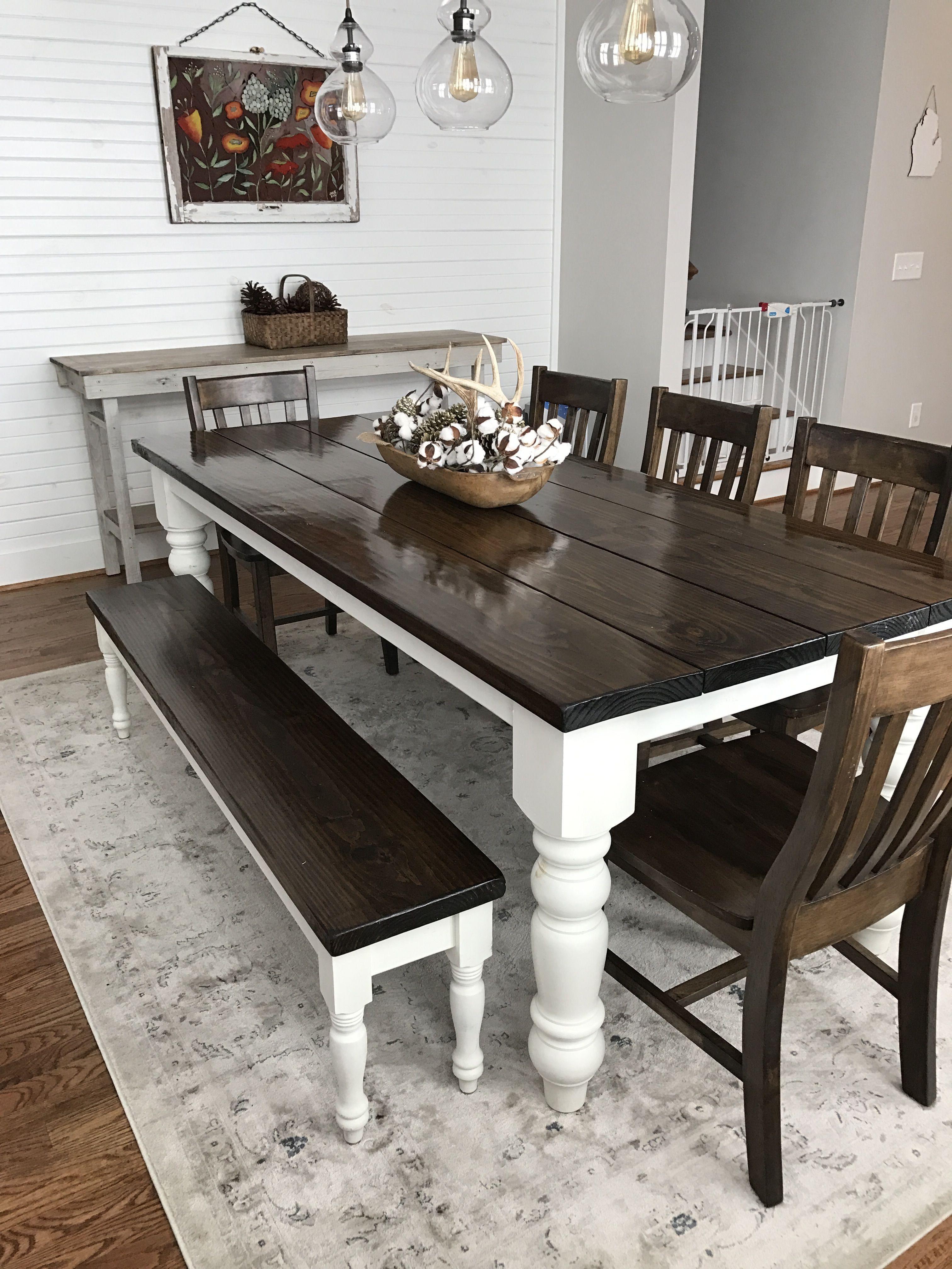 Lovely Grey Farmhouse Kitchen Table