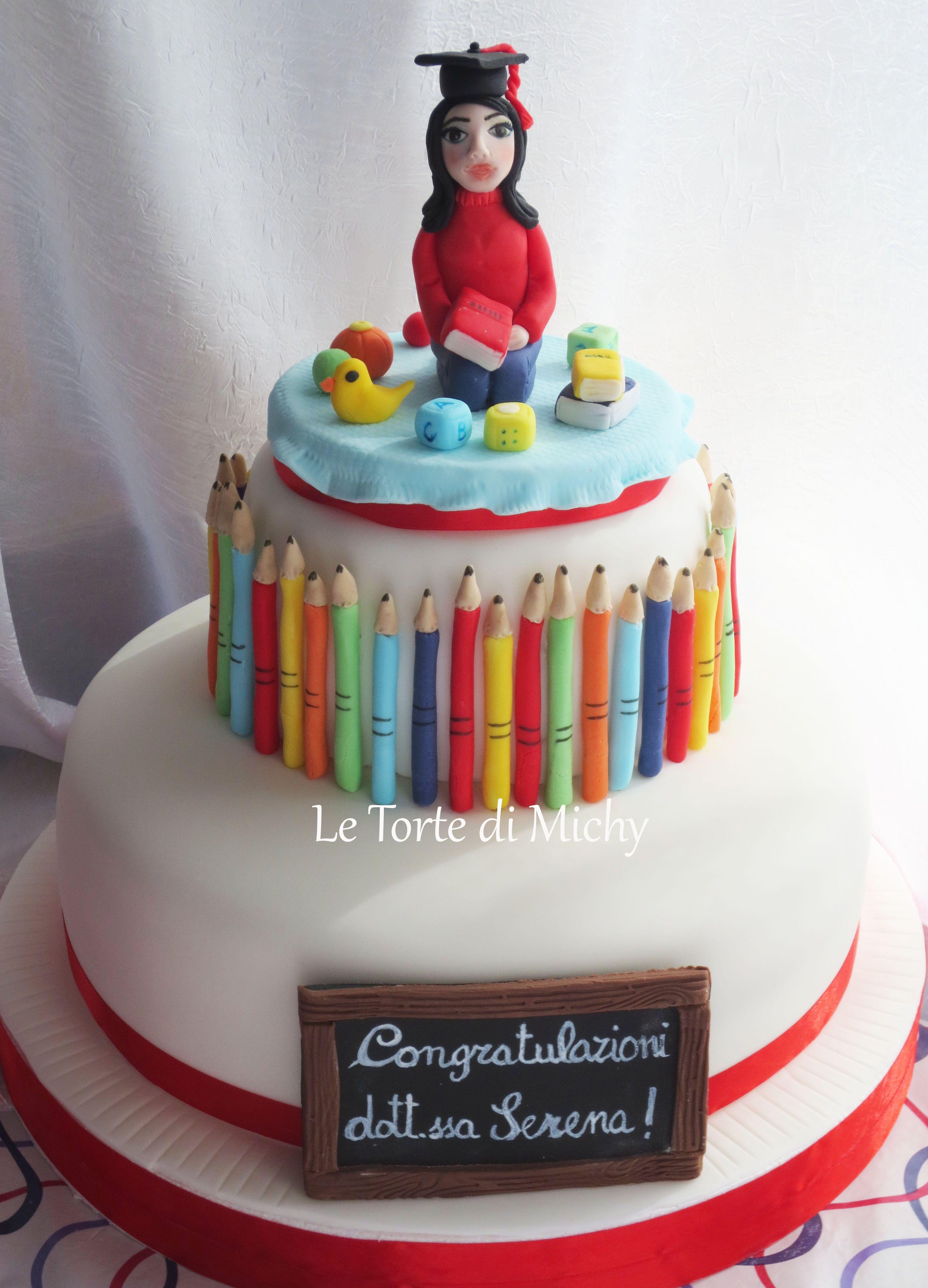 Torta laurea scienze dell 39 educazione e formazione teacher for Decorazioni per torte di laurea