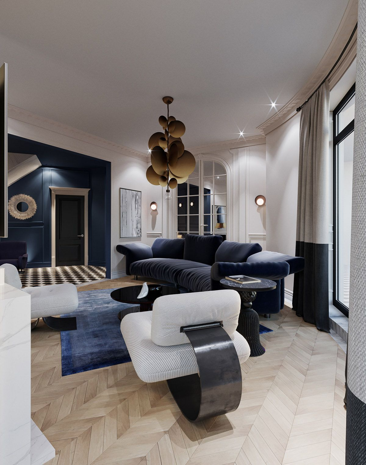 One Space Two Design Options Interior House Design Living