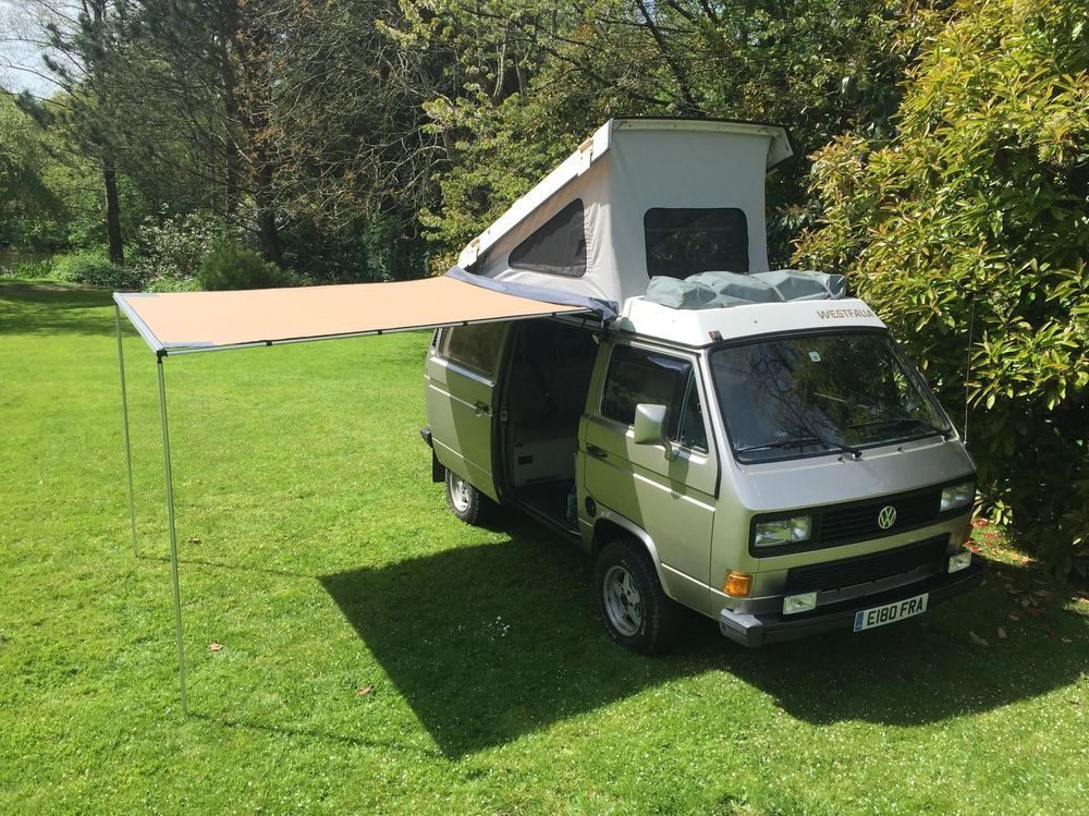 VW T25 ARB 2500mm x 2500mm side awning with CVC T25 T3 fitting kit