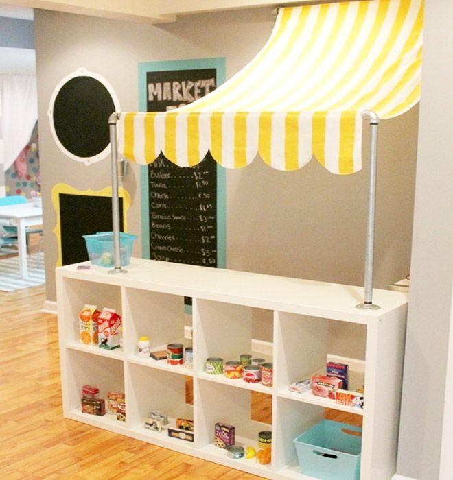 Ikea kallax hack  Kioski kauppa kauppaleikki lapset IKEA-KALLAX-Hack-Market-Place ...