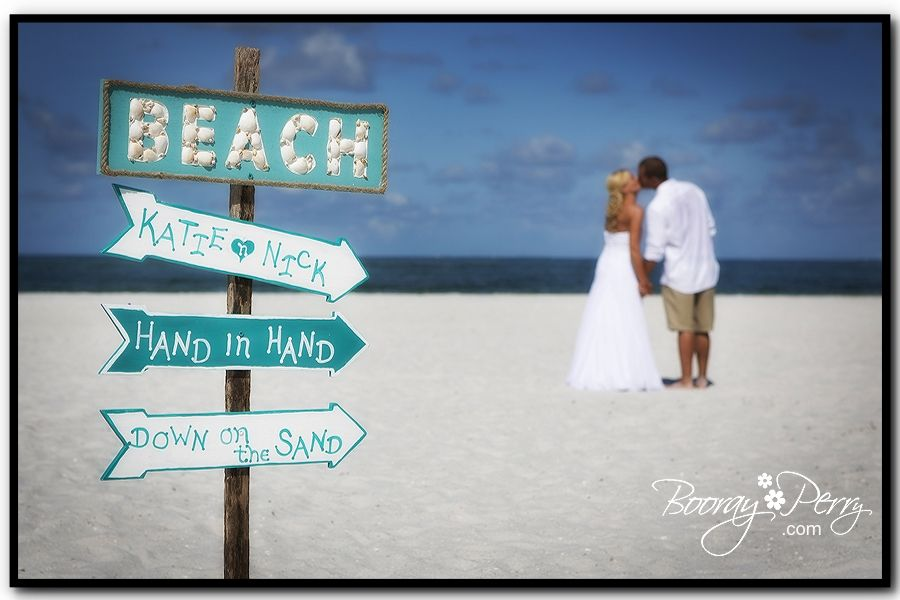 great beach wedding sign tampa wedding photography