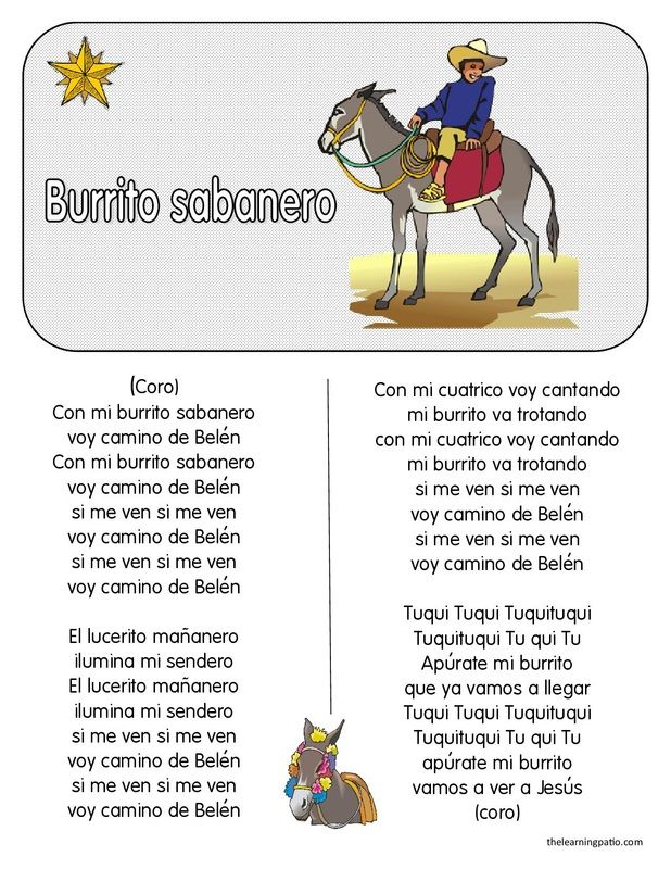 FREE PDF Spanish Christmas Carols & Comprehension Questions http ...
