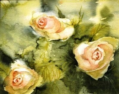 Les trois roses - Marie-Jeanne BRONZINI