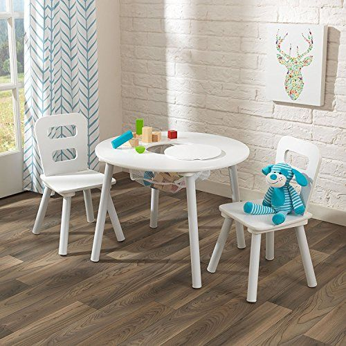 Kidkraft Kids Round Table And 2 Chairs Set White Kidkraft Table