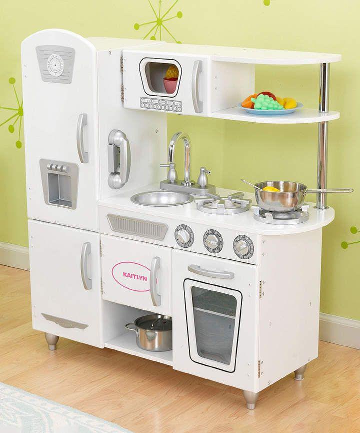 kid kraft play kitchen island white vintage personalized products pinterest