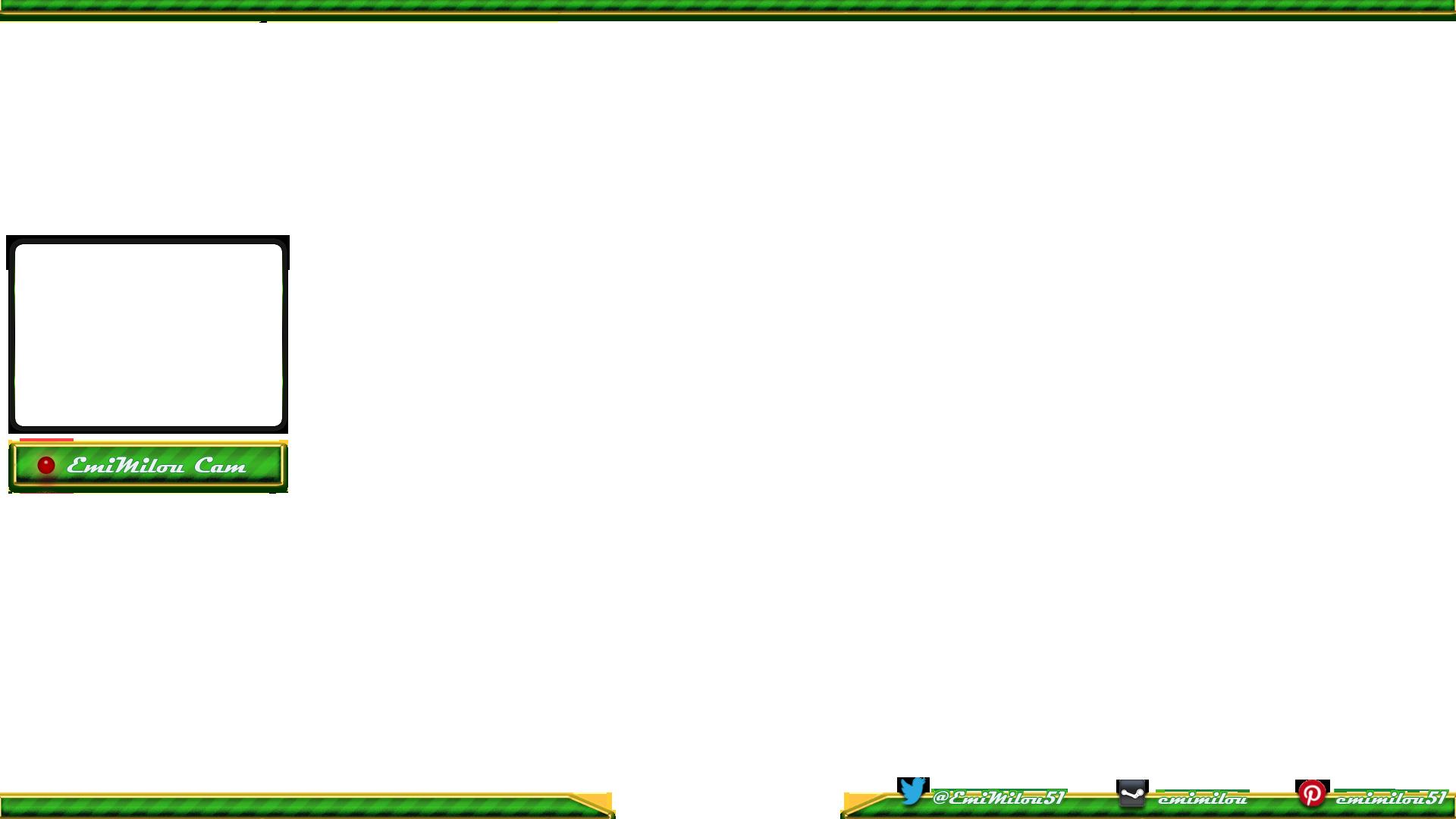 Overlay avec fond transparent pour chaîne Twitch.tv (dim