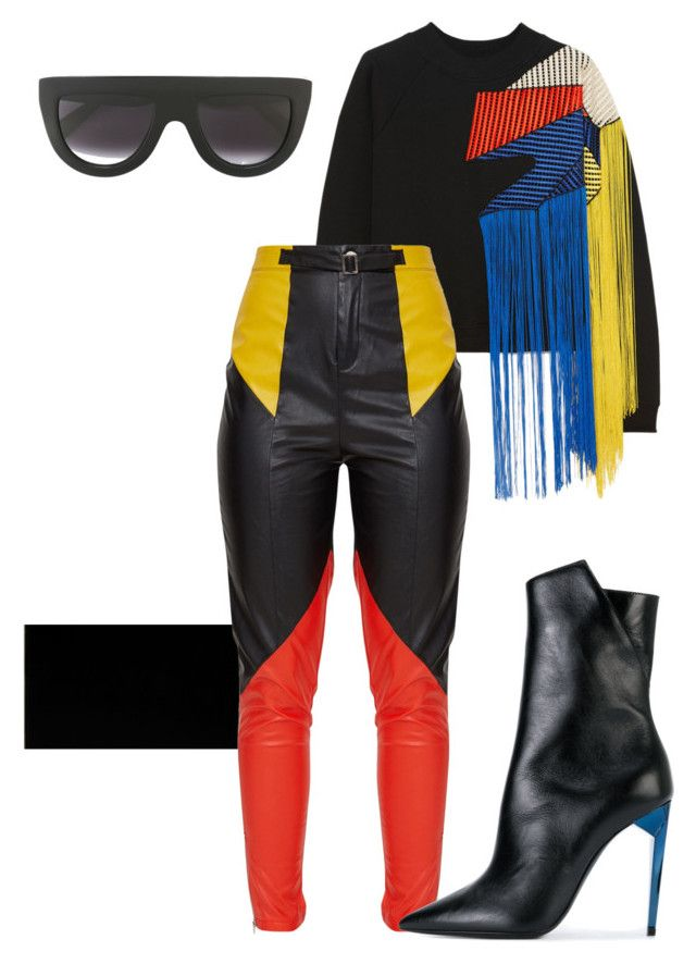"""""""Tossed in Sauce"""" by roxysgotmoxy ❤ liked on Polyvore featuring Christopher Kane, Charlotte Olympia, Yves Saint Laurent and CÉLINE"""