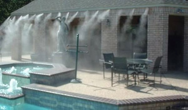 Beat The Heat With Water Misters Natural Building Blog Water Mister Pergola Plans Design Patio Mister