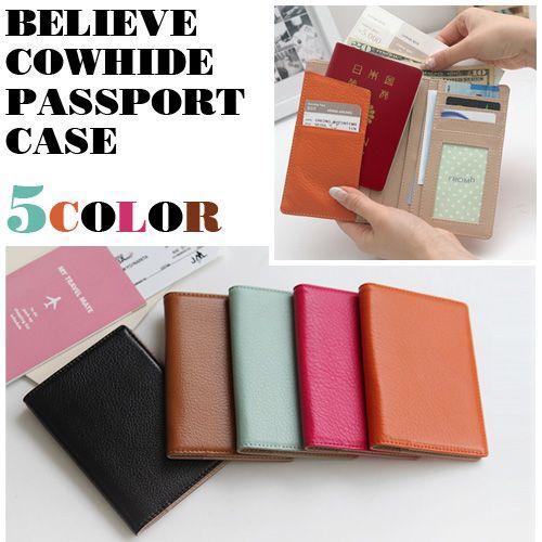 【スキミング防止】Believe牛本革パスポートケース トラベル ウォレット パスポートケース かわいい パスポートケース スキミング