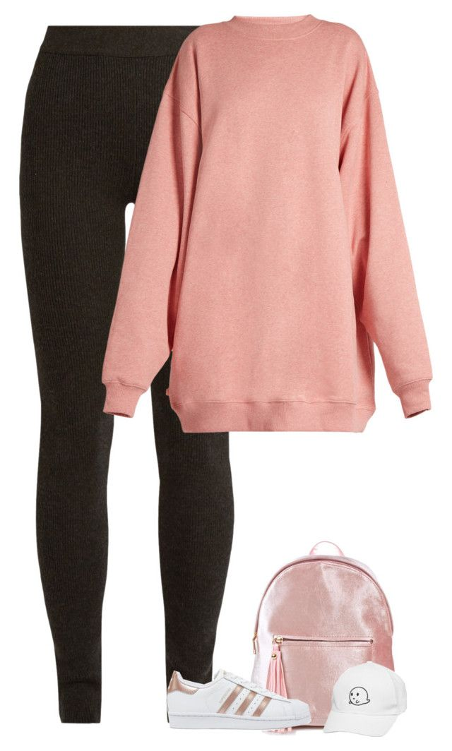 """Untitled #10119"" by fanny483 ❤ liked on Polyvore featuring Ryan Roche, Acne Studios and adidas Originals"