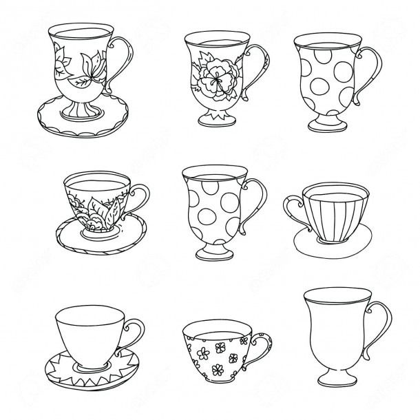 Free Printable Tea Cup Coloring Pages | Coloring pages ...