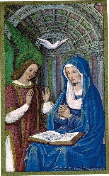 Jean Bourdichon (1457-59-1521): Annunciation (folio 26v, The Grand Hours of Anne de Brentange)
