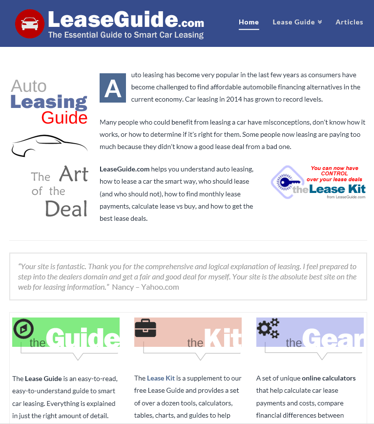 learn about car leasing and how to find the best deals leaseguide