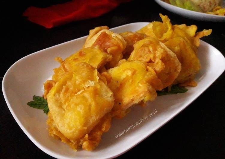 Resep Tahu Tepung Kriuk Oleh Pawon Mair Irma Rahmawati Resep Resep Tahu Makanan Resep Masakan