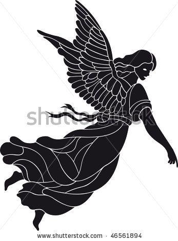 angel vector stock vector 1s silhouettes 2 pinterest