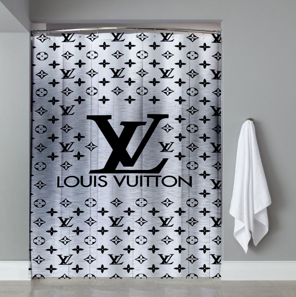 0dab70a594 Silver art Louis Vuitton Shower Curtain Cheap in 2019