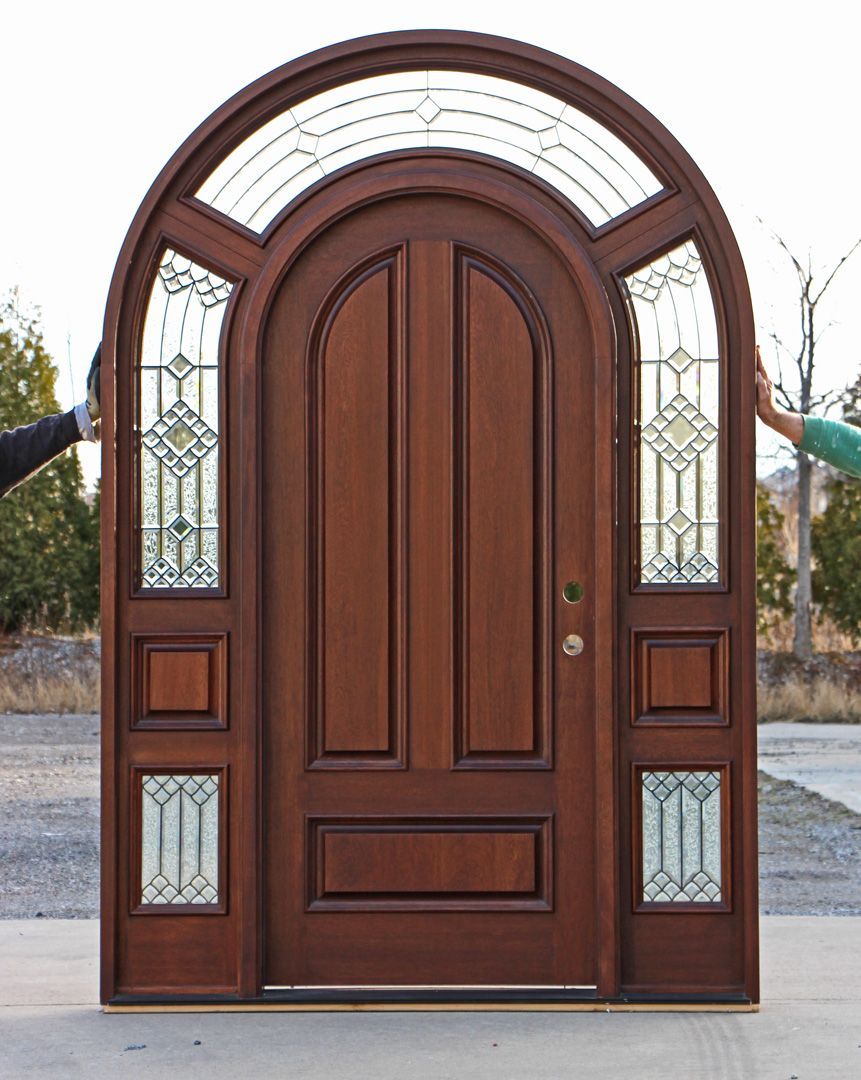 Mahogany Round Top Exterior Doors Exterior Door Designs Exterior Doors Door Design