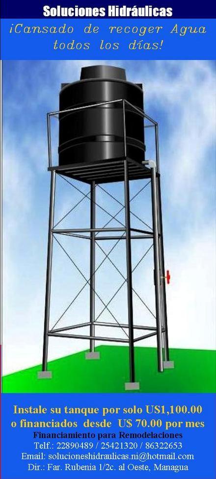 Construccion de torre para tanque de agua buscar con for Como fabricar tanques de agua para rusticos