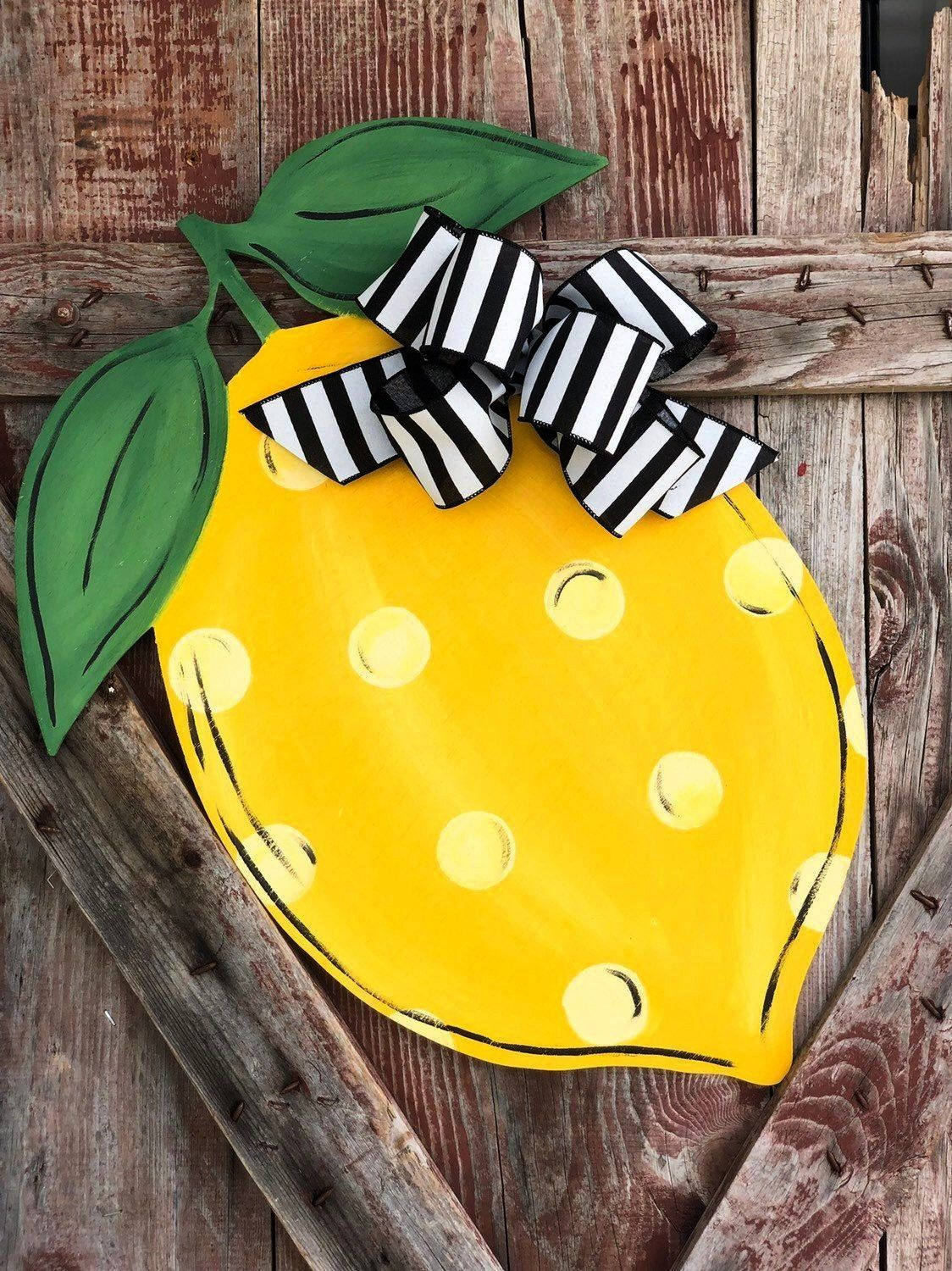 Pictures Lemon Door Hanger - Lemon Front Door Sign - Lemon Decor - Wooden Lemon door Hanger Tips  Y