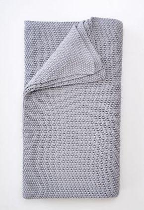 Schoener Stricken De schöner wohnen tress grau plaid tagesdecke aus baumwolle gestrickt