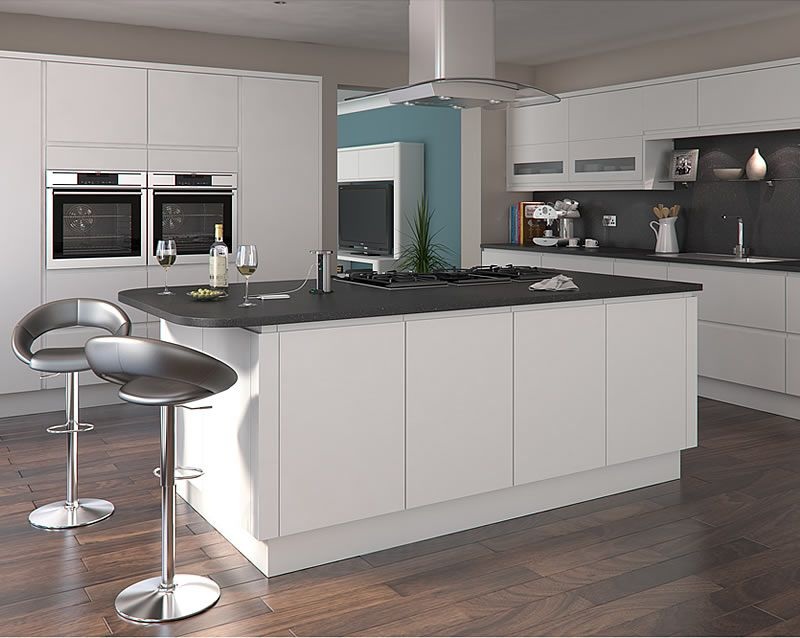 Luca Matt White Kitchens Buy Luca Matt White Kitchen Units At