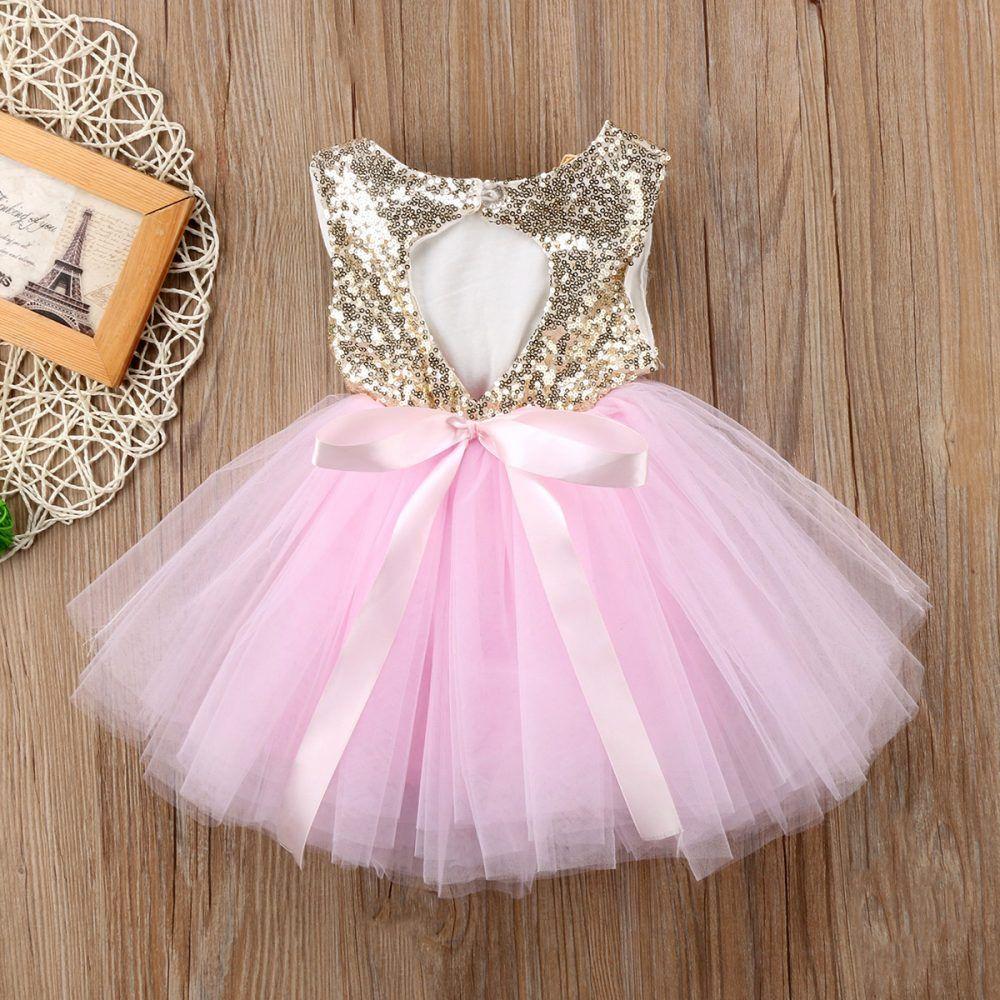 Gorgeous Baby girl tutu glitter sequin party christening princess birthday dress