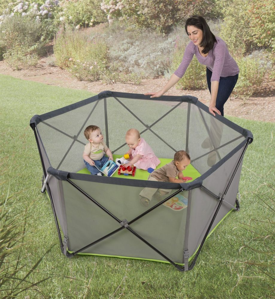 Infant Playpen Play Yard Crib Fun Summer Baby Safe Portable On The Go Travel NEW & Infant Playpen Play Yard Crib Fun Summer Baby Safe Portable On The ...