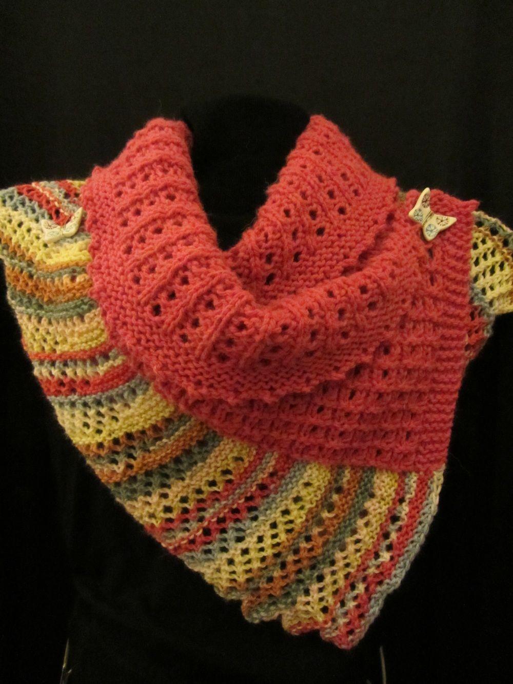 Knit Papillon Wrap Free Pattern