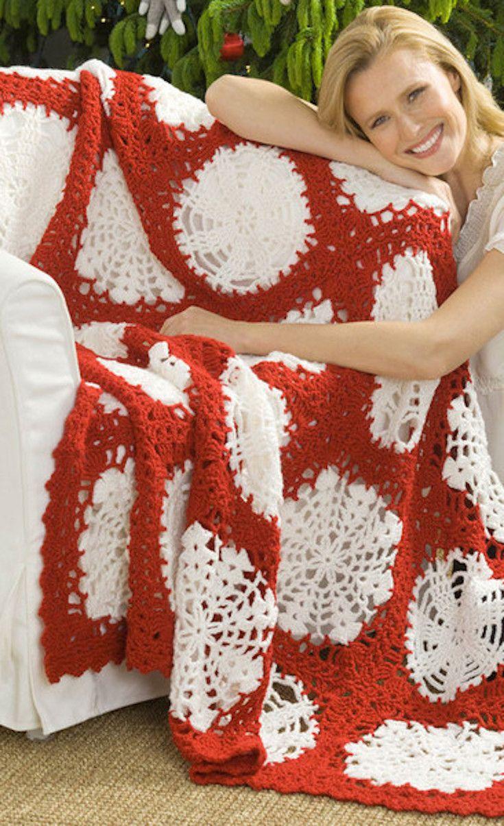 Crochet Christmas in July: 46 Crochet Afghan Patterns | diy | Pinterest