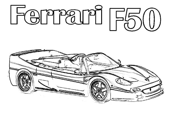 Ferrari Cars F50 Coloring Pages Kids Play Color Ferrari Car Ferrari Coloring Pages