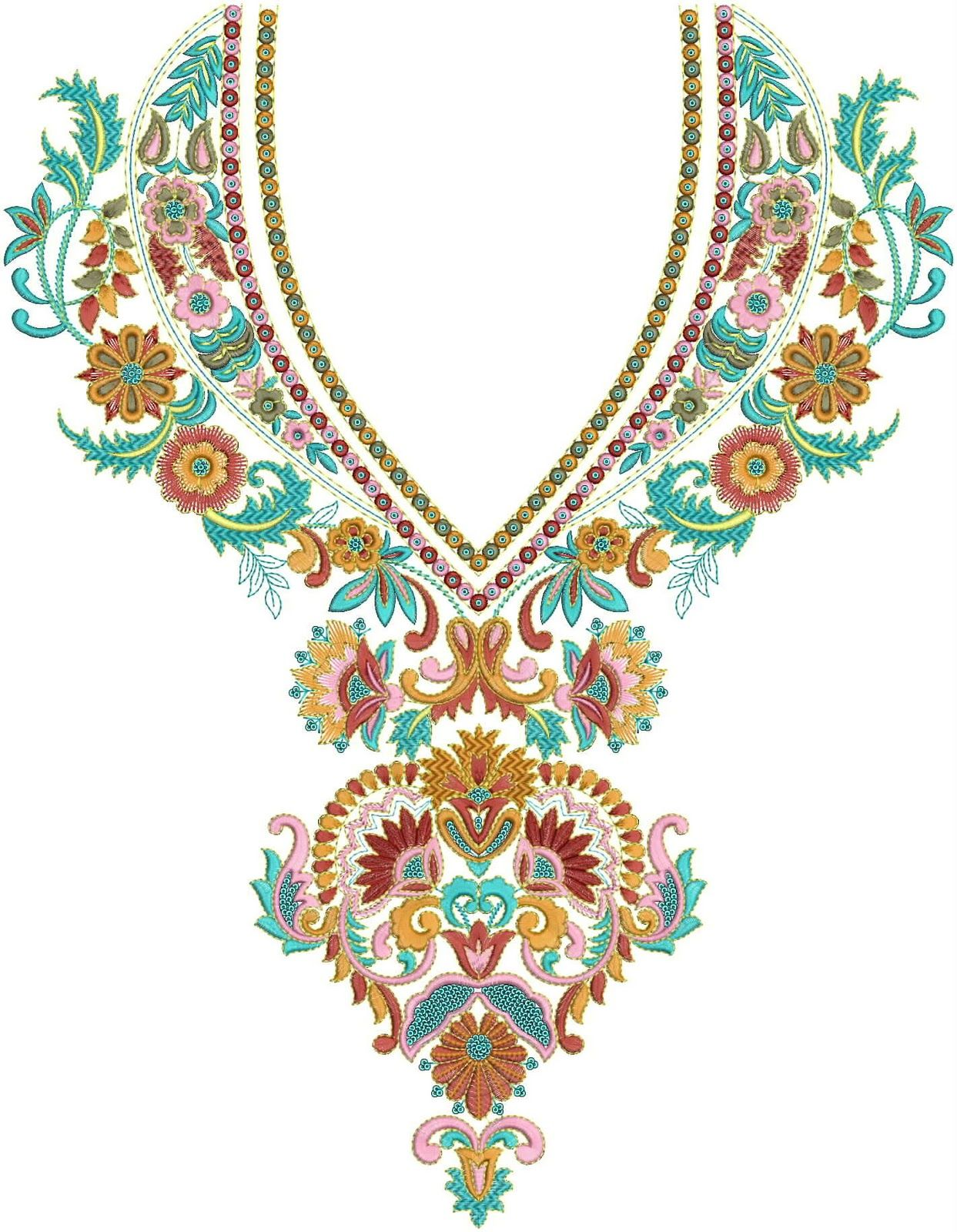 Neck embroidery designs pinterest